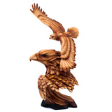 Eagle Flying Bust Faux Carved Wood Look Figurine 1