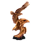 Eagle Flying Bust Faux Carved Wood Look Figurine 4