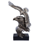 Silver/Pewter Tone Eagle Flying Bust Figurine 1