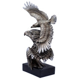 Silver/Pewter Tone Eagle Flying Bust Figurine 2