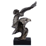 Silver/Pewter Tone Eagle Flying Bust Figurine 4