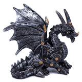 Silver and Gold Steampunk Dragon Figurine 1