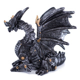 Silver and Gold Steampunk Dragon Figurine 3