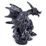 Silver and Gold Steampunk Dragon Figurine 4