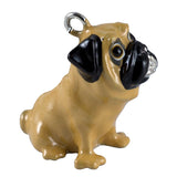 Little Paws Tan Pug Dog Key Ring Key Chain 2