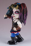 Steampunk Cosplay Kid Day of The Dead Figurine