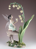 Lily Of The Valley Fairy Collecting Nectar Figurine By Rachel Anderson