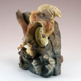 Bald Eagle With Chicks Clock Figurine 2
