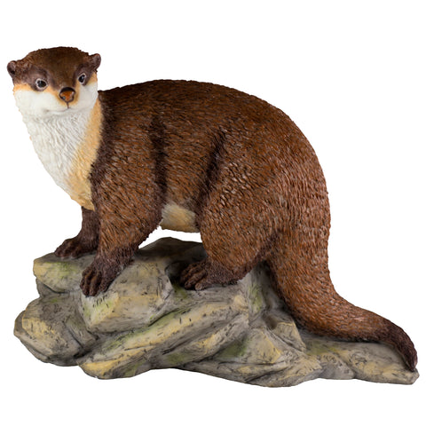 River Otter On Rocks Figurine 1