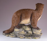 River Otter On Rocks Figurine 4