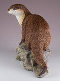 River Otter On Rocks Figurine 5