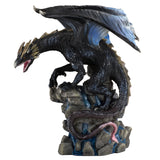 Black Dragon On Rock Waterfall Figurine 1