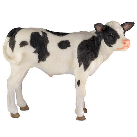 Black and White Holstein Dairy Calf Cow Figurine 1