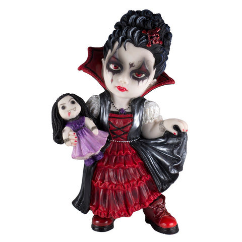 Cosplay Kids Vampire Girl With Doll Figurine