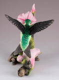 Ruby Throated Hummingbird Over Morning Glory Bird Figurine 5
