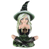 Witch Green With Skull Figurine 1