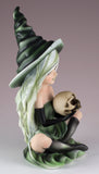 Witch Green With Skull Figurine 2
