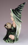 Witch Green With Skull Figurine 4