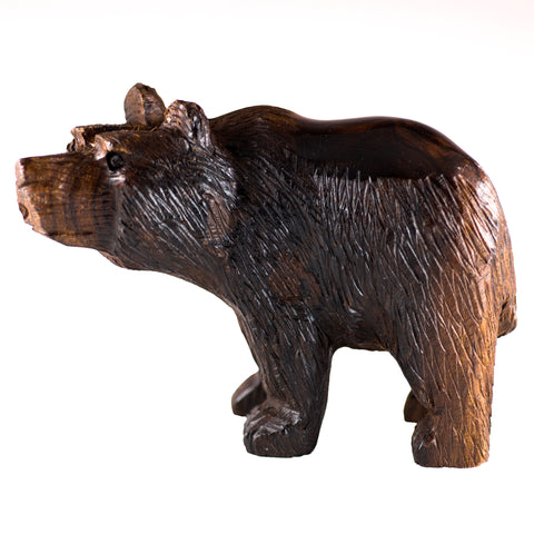 Bear Hand Carved Ironwood Wood Figurine 1