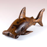 Hammerhead Shark Hand Carved Ironwood Wood Figurine