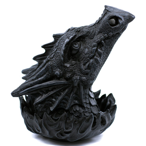 Black Dragon Head Figurine Statue Incense Burner 1