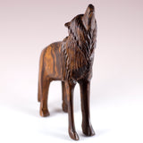 Wolf Standing Hand Carved Ironwood Wood Figurine 2