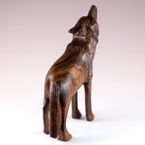 Wolf Standing Hand Carved Ironwood Wood Figurine 4