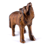 ironwood carved wolf figurine 2