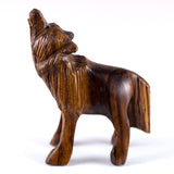 ironwood carved wolf figurine 3