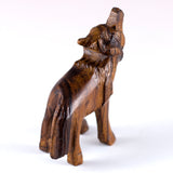 ironwood carved wolf figurine 4