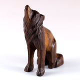 Wolf Hand Carved Ironwood Wood Figurine