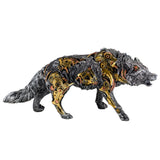 Steampunk Wolf With Gears Figurine Statue 1