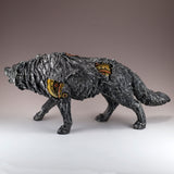 Steampunk Wolf With Gears Figurine Statue 3