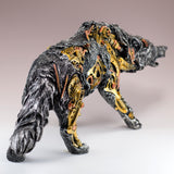 Steampunk Wolf With Gears Figurine Statue 4