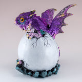 Dragon Figurine Purple Baby Hatching from Egg 4