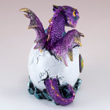 Dragon Figurine Purple Baby Hatching from Egg 5