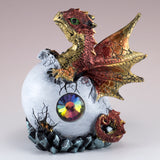 Dragon Figurine Red Baby Hatching from Egg 2