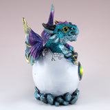 Dragon Figurine Blue Baby Hatching from Egg 4