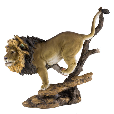 Male Lion Running Figurine Statue HBH1