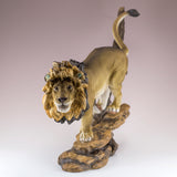 Male Lion Running Figurine 3