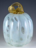 Ghost White Pumpkin Hand Blown Glass