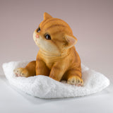 Kitten Figurine Orange Striped Cat
