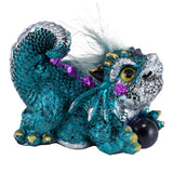 Blue Baby Dragon With Hair and Marble