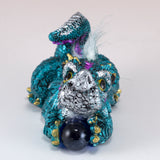 Blue Baby Dragon With Hair and Marble 2