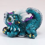 Blue Baby Dragon With Hair and Marble 3