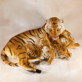 Tiger With 3 Cubs Figurine 3
