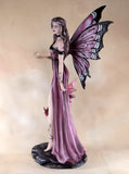 Amethyst Fairy With Crystal Ball Red Dragon Figurine 5