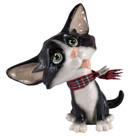 "Little Paws ""Fizz"" Black and White Cat Figurine"