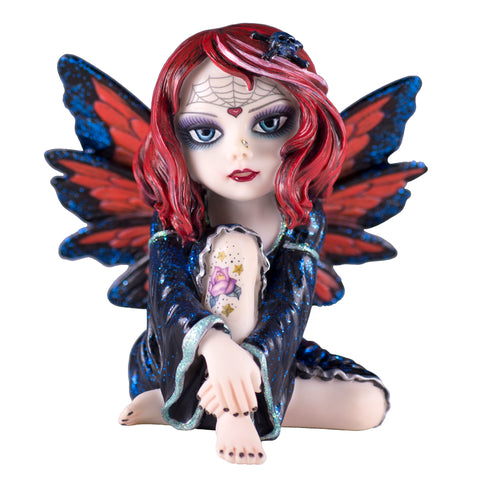 Cosplay Kids Fairy With Tattoo and Little Skull In Hair Figurine 1