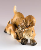 Dachshund With Puppy Dog Figurine 2